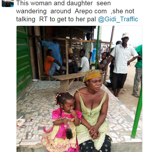 Mother and daughter roam the streets of Lagos
