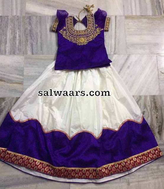 Off White Lehenga Zardosi Blouse