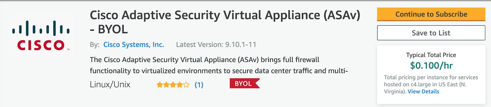 Kyler Middleton: Deploy Cisco ASAv in AWS for Infrastructure VPN