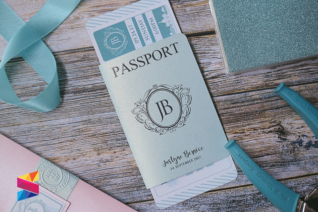 18th Birthday Passport Type Invitation