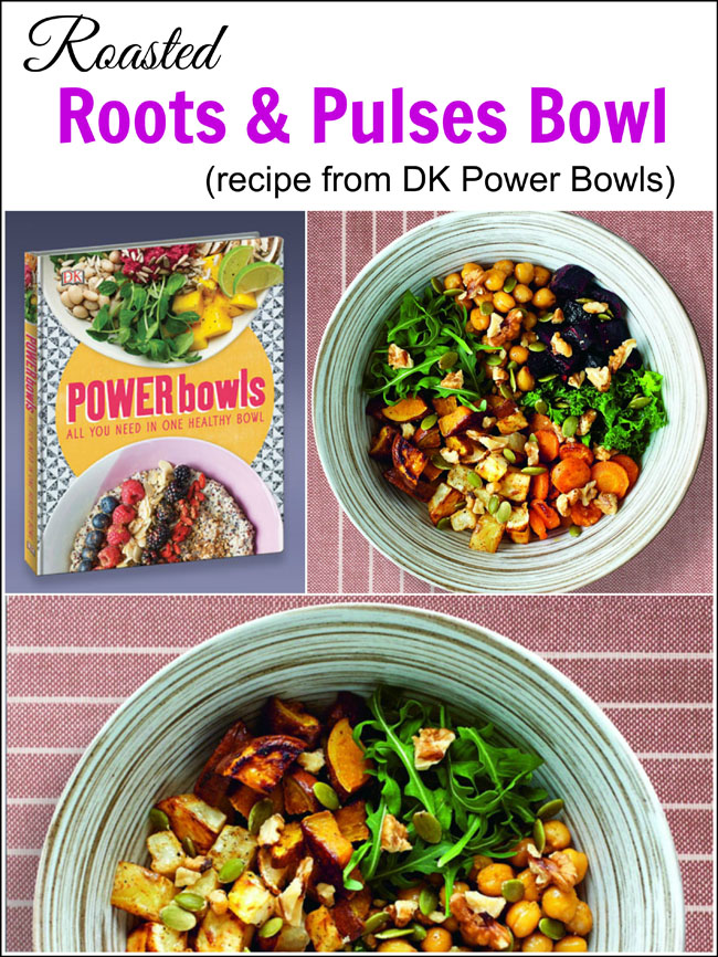 This Roasted Roots & Pulses Bowl recipe is perfect for a healthy start to the new year - a warming dish for winter too!