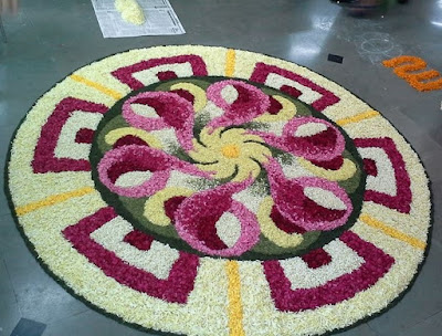 new designs of onam pookalam photos 2016