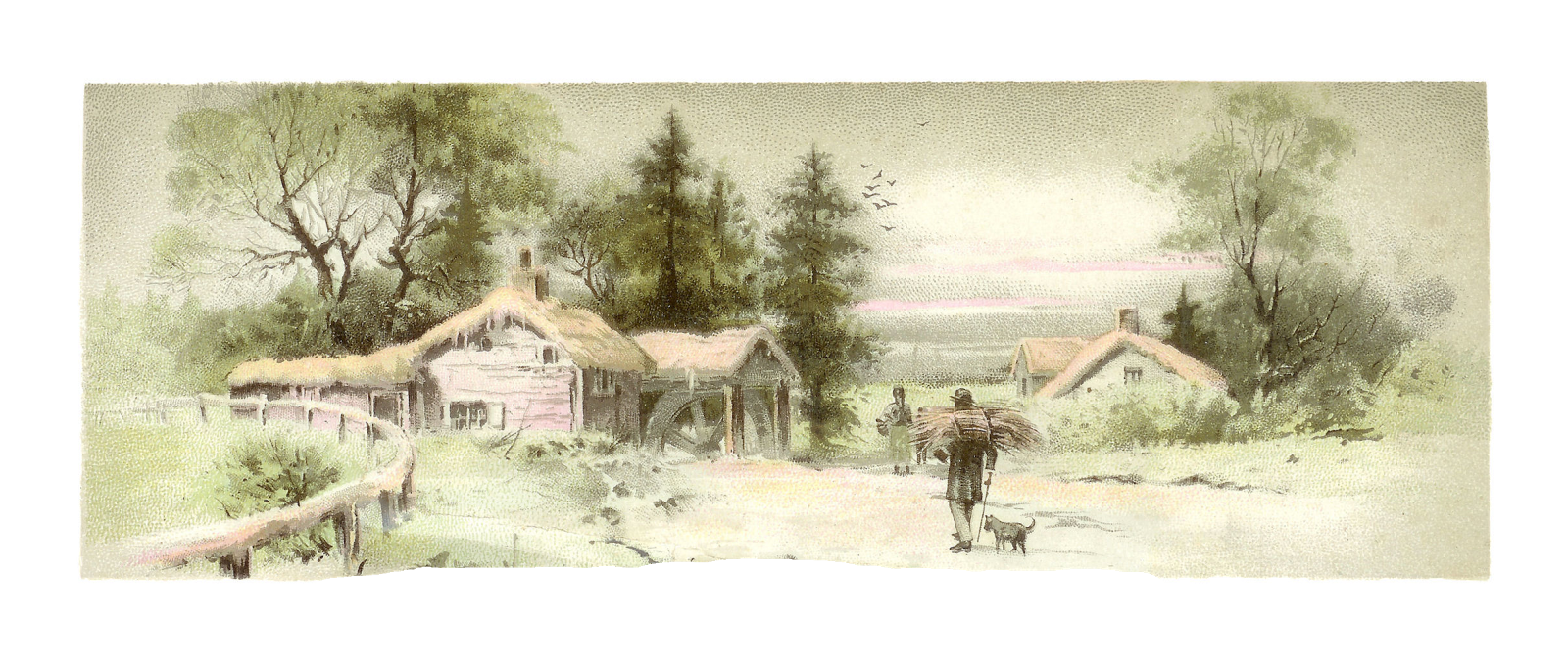 Antique Images: Free Countryside Digital Graphic: Country ...