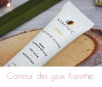 Crème contour des yeux bio de Karethic