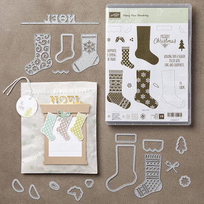 Stampin Up! UK Independent  Demonstrator Susan Simpson, Craftyduckydoodah!, Hang Your Stocking Stamp Set, Christmas Stockings Thinlets Dies, Supplies available 24/7, Coffee & Cards Project November 2016
