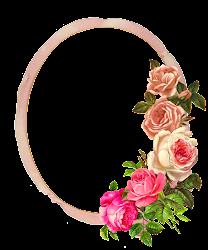 frame flower pink rose border digital roses flowers hd ribbon frames clipart monarch center graphics resolution idea project clip borders