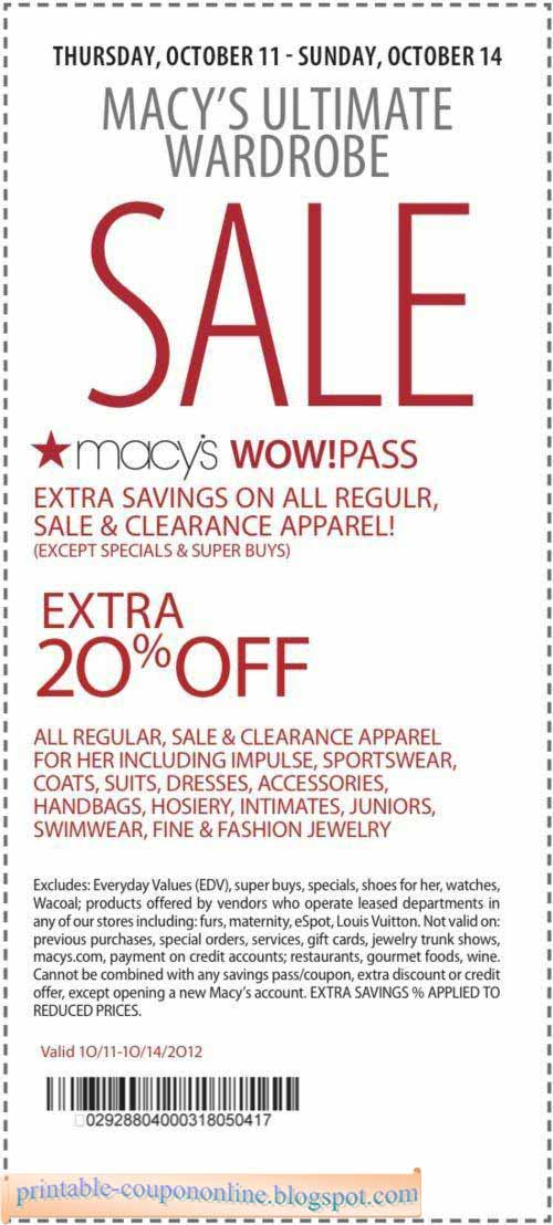 Macy's coupons feb 2018