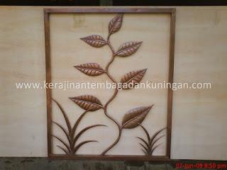 kerajinan Hiasan Dinding / Ornamen Dinding Tembaga Kuningan