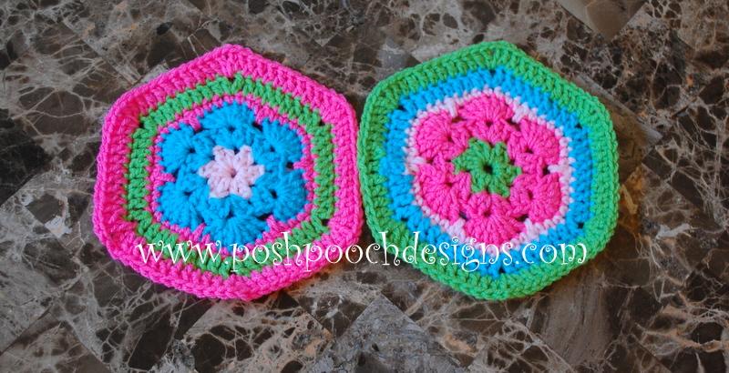 Posh Pooch Designs Dog Clothes African Flower Scrap Scarf Crochet