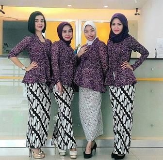 Baju Batik Kantor Wanita Modern
