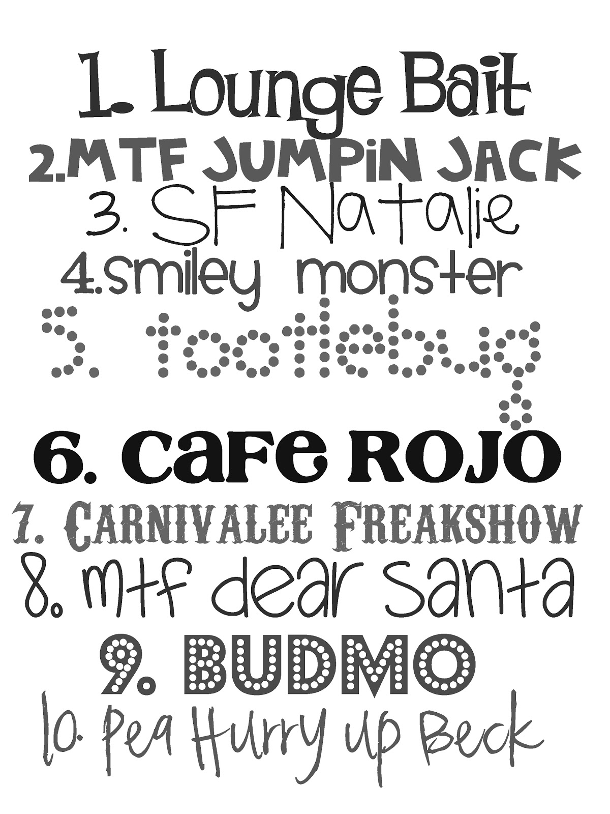 fonts font fun favorite kid cute take word copy street cool sesame funky dafont text natalie rojo cafe party jack