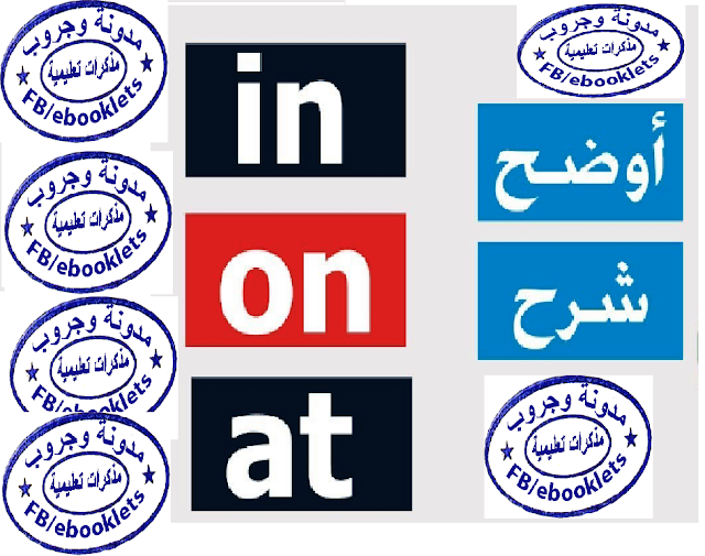 شرح استخدامات حروف الجر ( Prepositions ( In , on , at