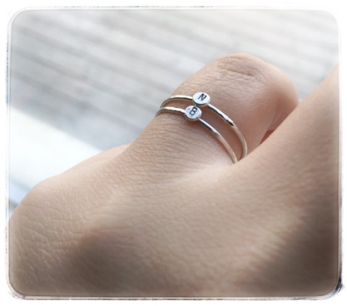 Tiny letter initial ring