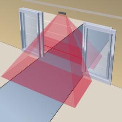 ilustrasi pemasangan sensor sliding door