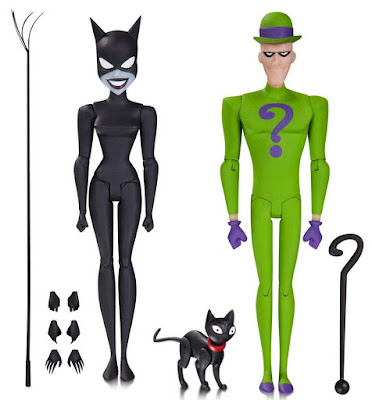 "Batman: The Animated Series Wave 6 6"" Action Figures – Catwoman & The Riddler"