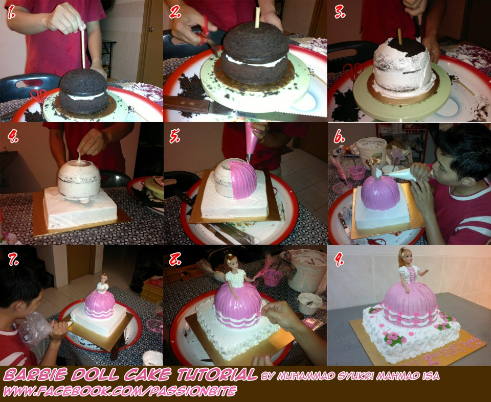 Passionbite How To Make Barbie Doll Cake Tutorial