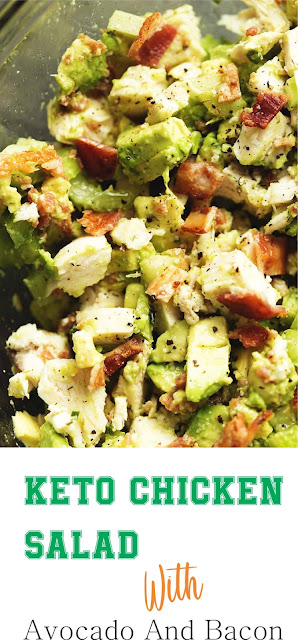 Keto Chicken Salad With Avocado And Bacon