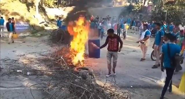 Arroyo Cano: Estudiantes protestan en demanda terminación de remodelación del Liceo-VIDEO
