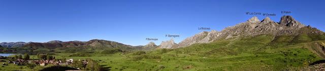 Vistas del cordal a realizar de las Tres Marías y Peña Esquina