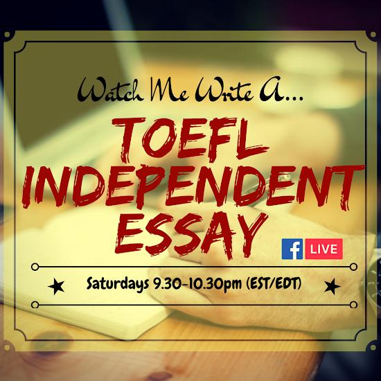 Essay write program toefl