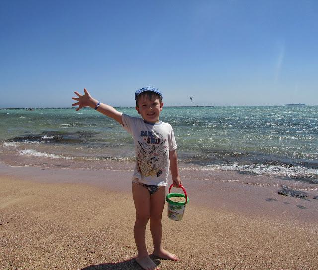 пляж для детей в Египте