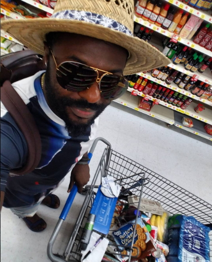 jim iyke doing grocery