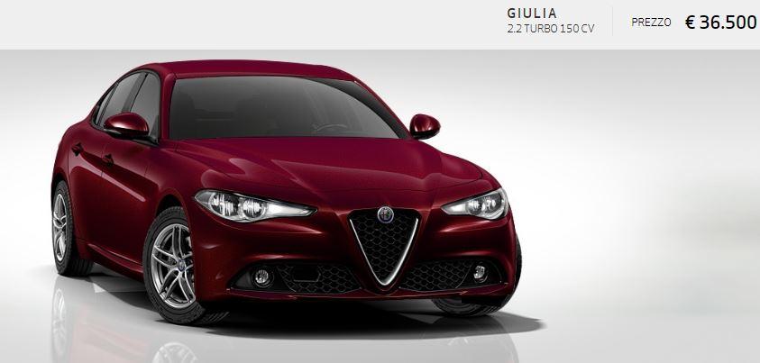 Alfa Romeo Giulia colore Metallizzato-Rosso Monza