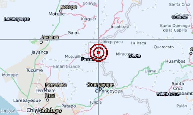 Lambayeque: Sismo de magnitud 5.4 sacudió la provincia de Ferreñafe