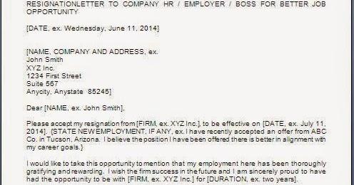 free sample of cv resume resignation letter format for