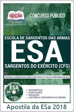 Apostila Concurso da ESA 2018 Sargentos do Exército (CFS)
