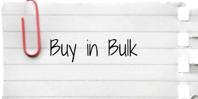 Buy in bulk to save at the grocery store
