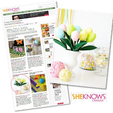 DIY Easter Centerpiece Craft Tutorial on SheKnows