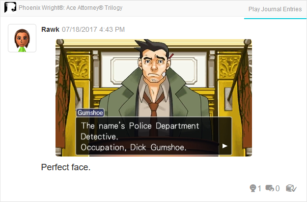 Phoenix Wright Ace Attorney Trials and Tribulations Dick Gumshoe mixed up introducction name occupation