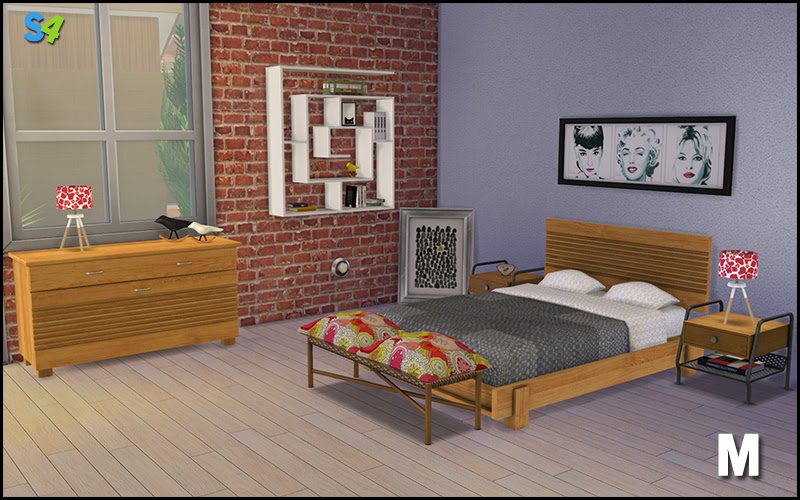 My Sims 4 Blog: Boston Bedroom Set By Mango Sims