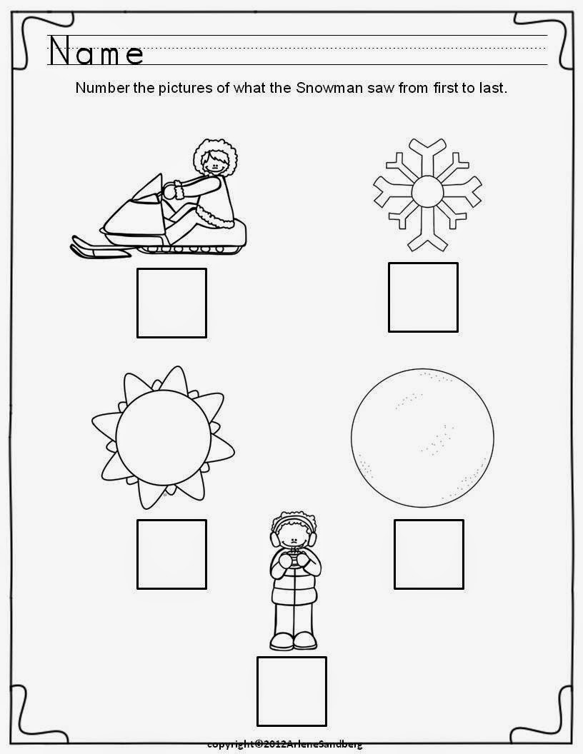 Classroom Freebies: Snowman Poem and Sequencing Activities