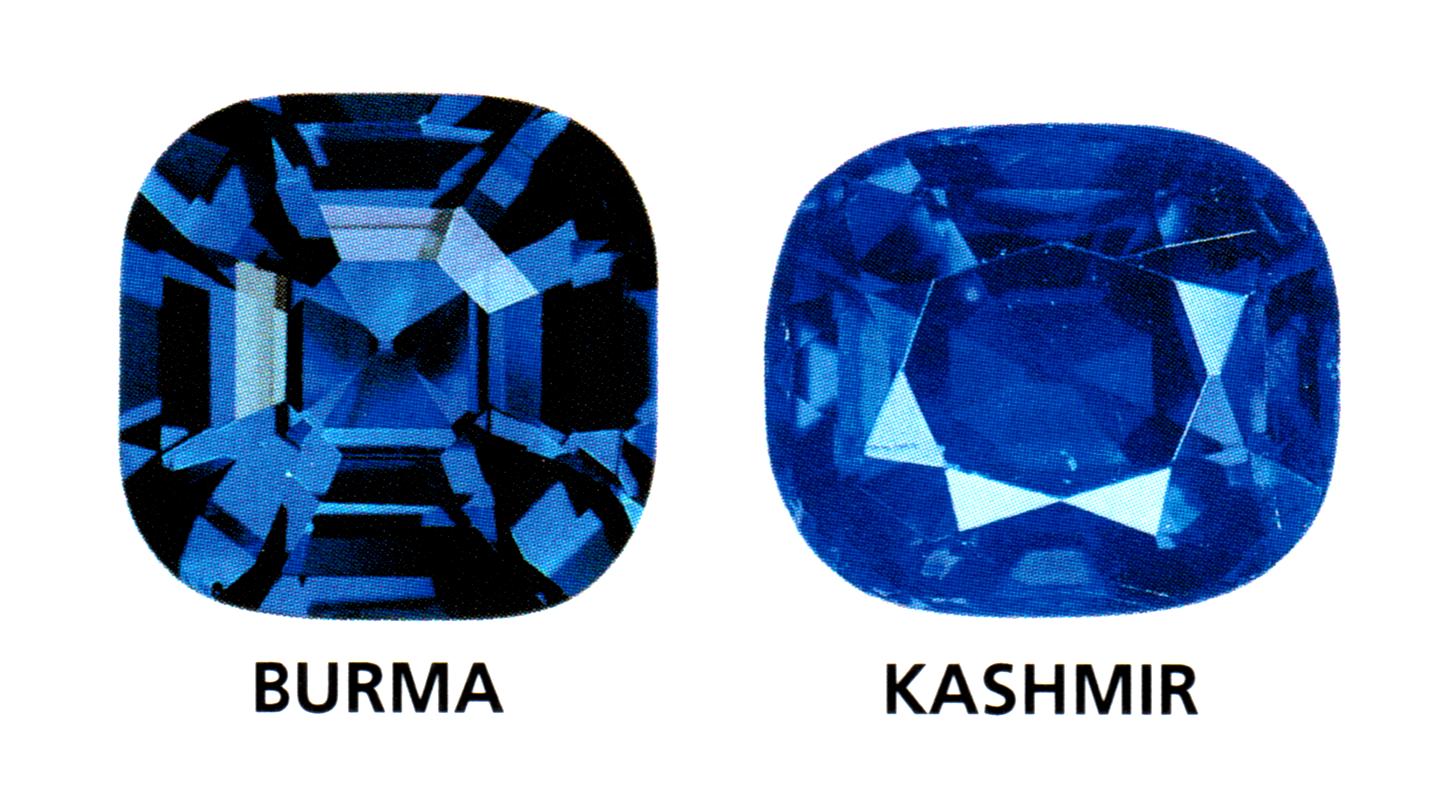 Burma and Kashmiri blue sapphire