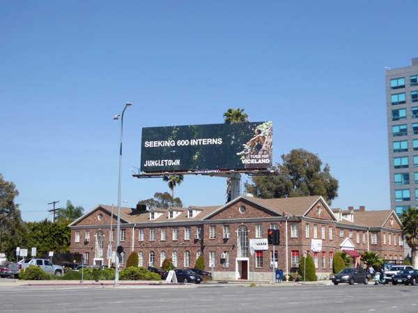 Jungletown series launch billboard