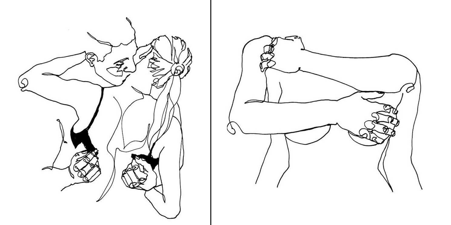 40 Amazing Artistic Sketches Depict The Ecstatic World Of Two Lovers