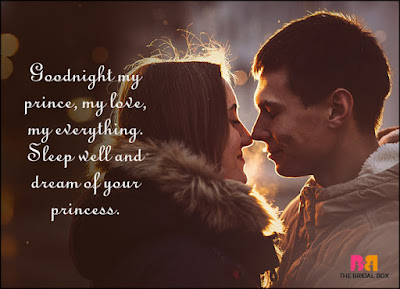 Romantic Good Night Love Quotes: goodnight my prince,my love, my everything.