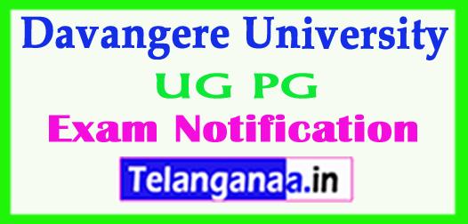 Davangere University UG PG Post Poned Dec 2017 Exam Notification