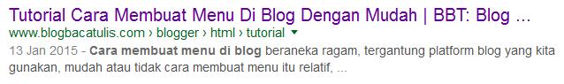 breadcrumbs masuk google