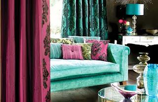 turquesa en la decoración