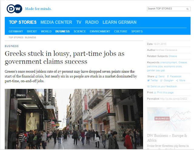 Deutsche Welle: Oι Έλληνες δουλεύουν σε άθλιες συνθήκες και η κυβέρνηση πανηγυρίζει
