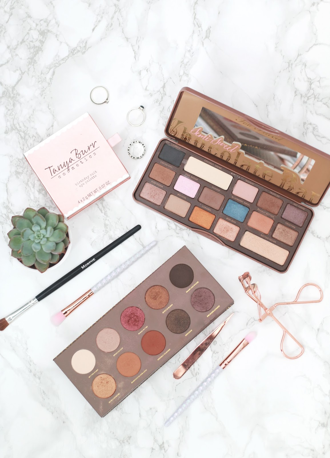 forever september, beauty blogger, lifestyle blogger, fashion blogger, eyeshadow, eyeshadow palettes, eyeshadow looks, looks for blue eyes, zoeva, too faced, tanya burr, neutral palette