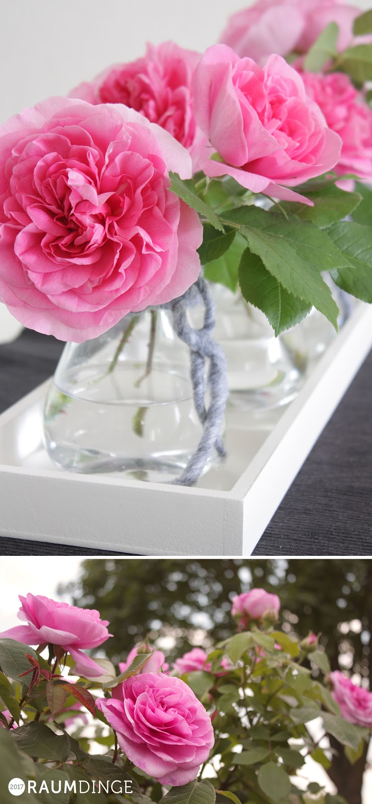 englische Rose Tischdeko