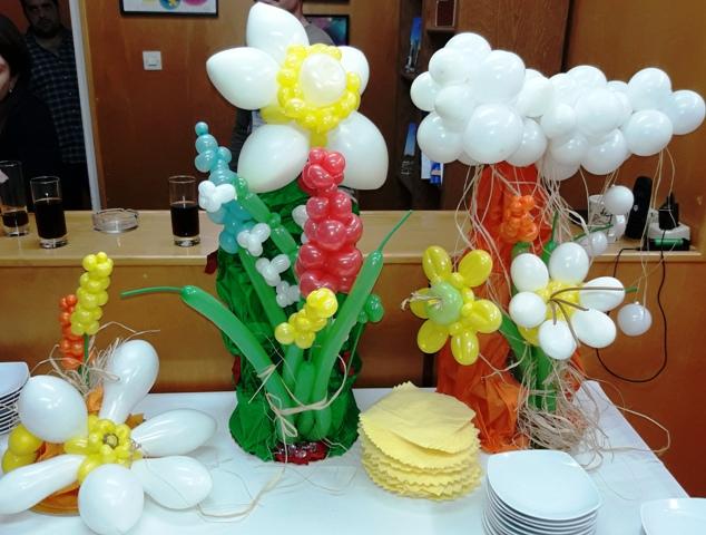 μπαλόνια επιτραπέζια με θέμα τα αγριολούλουδα