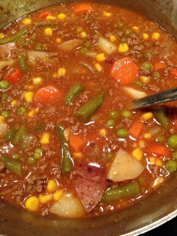 Favorite Hamburger Stew #WINTER #SOUP #HAMBURGER #DINNER #GLUTENFREE