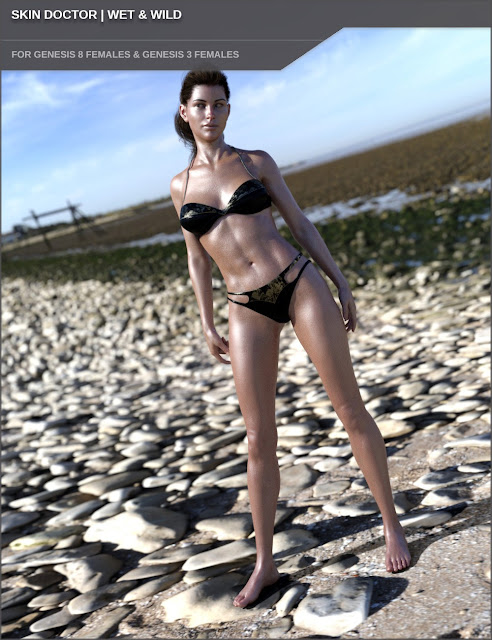 Skin Doctor - Wet and Wild for Genesis 8 and 3 Female