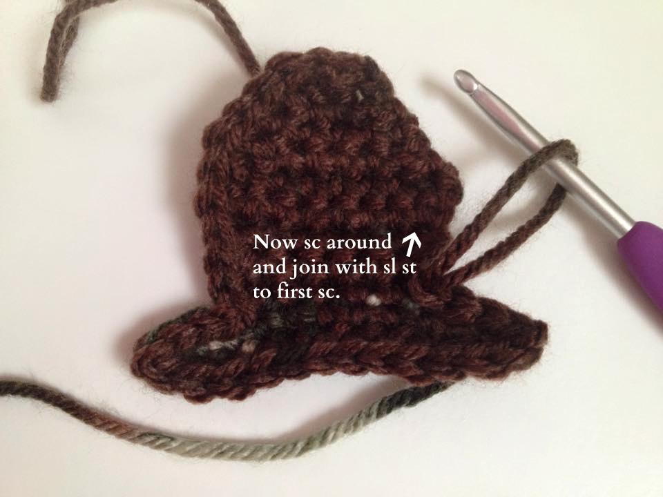 Deer Head Applique Free Crochet Pattern