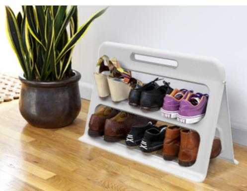Black Shoe Storage Cabinet